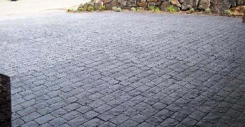 Stamped, Stained, Driveway Concrete Driveways Big Fish Concrete Mercer Island, WA