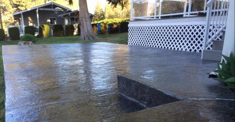 Stained, Stamped Concrete Patios Northwest Precision Concrete & Construction Manson, WA