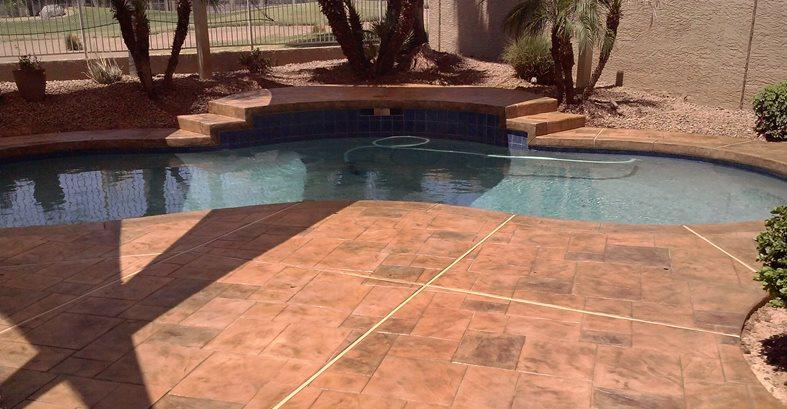 Stamped Overlays Site FLORTEK LLC Glendale, AZ