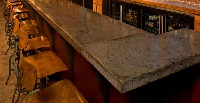 Concrete Countertops In Restaurants And Bars The