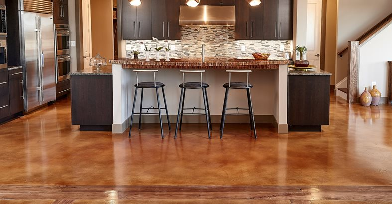 Kitchen Floor, Concrete Floor Site Hyde Concrete Pasadena, MD