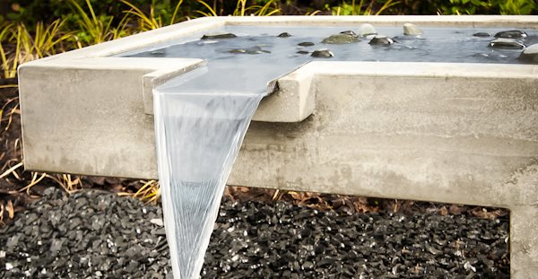 Contemporary Fountain Water Features Turning Stone Design Atlanta, GA