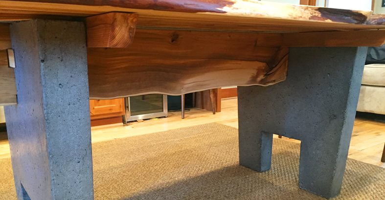 Amazing Concrete Table Base Site Crafthammer Design Seattle, WA