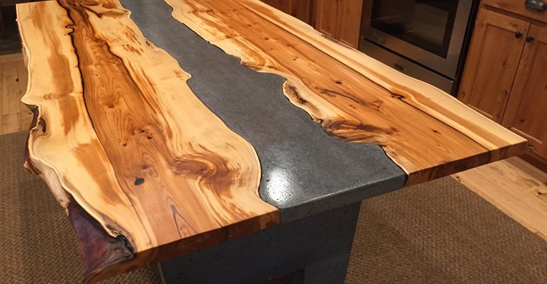 Hand Crafted Concrete And Wood Table The Network