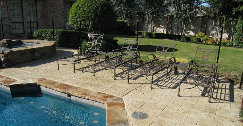 Stamped Concrete, Ashlar Slate Site Sublime Concrete Solutions LLC. Plano, TX
