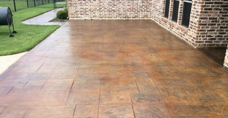 Stamped Concrete, Stamped Patio Concrete Driveways Elite Concrete Decor Forney, TX