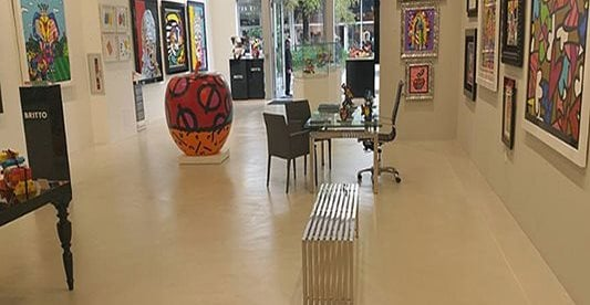 Art Studio, Floor, Concrete Concrete Floors National Concrete Polishing Pompano Beach, FL
