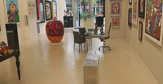 Art Studio, Floor, Concrete Concrete Floors National Concrete Polishing Pompano Beach, FL