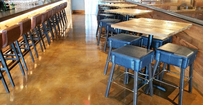 Restaurant, Stained Floors, Tables, Chairs Concrete Floors Raley's Decorative Concrete Specialist Arlington, TX