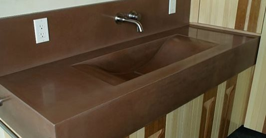 Bathroom Vanity, Sink Concrete Sinks Concast Studios Oceano, CA
