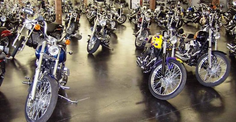 Motorcycle Showroom, Concrete Floor Site Color Cap Concrete Coatings, Inc. Sherman, TX