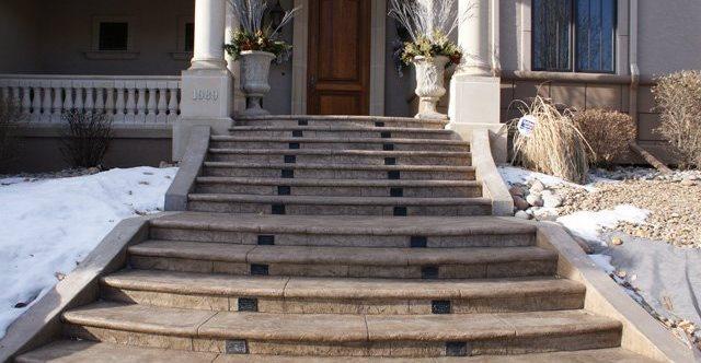 入口,楼梯,冲压混凝土落基山混凝土专家Morrison, CO