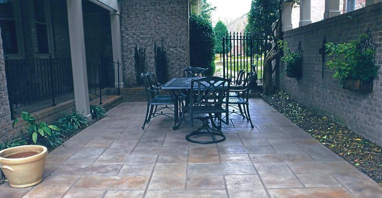 Stamped Concrete Coating, Covered Patio Stamped Concrete Sundek of Austin Austin, TX