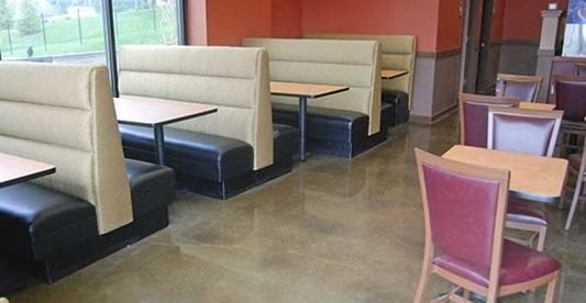 Restaurant, Polished, Concrete Concrete Floors Diamond Polishing Systems Puyallup, WA