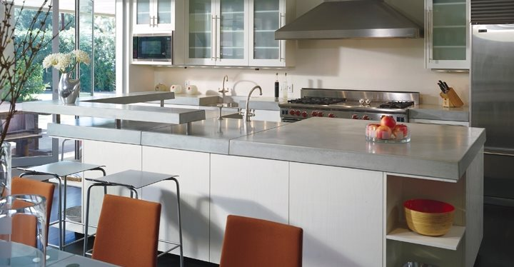 Grey, Counter Concrete Countertops ACS/Paradise Concrete Design Studio Phoenix, AZ