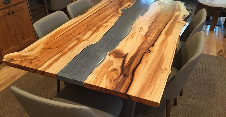 Yew Table Concrete TableSiteCrafthammer DesignSeattle WA