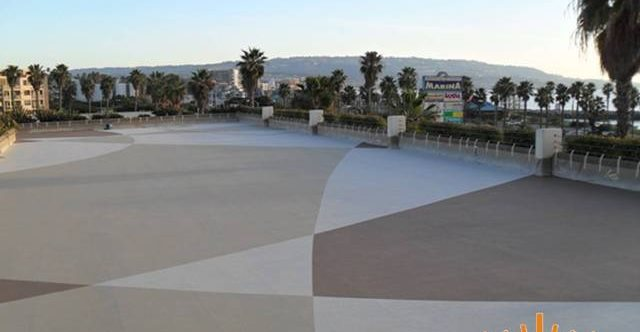 Patio, Crown Plaza Concrete Patios Sundek Decorative Concrete Coatings Anaheim, CA