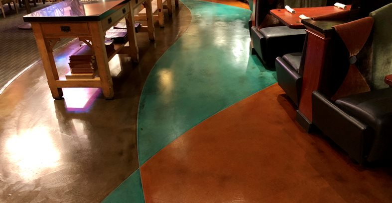 Restaurant Floor, Stained Concrete Commercial Floors KB Concrete Staining Norco, CA