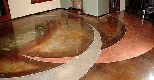Stained Art, Polished Floor Concrete Floors Pacific Decorative Concrete Inc Sacramento, CA