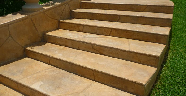 Stairs, Stamped, Walkway Concrete Floors Stamped Artistry Pasadena, TX