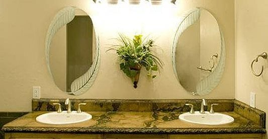 His And Hers Sinks, Concrete Countertop, Ornate Design Concrete Walkways The Concrete Artisans Occoquan, VA