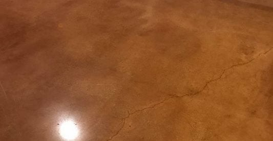 Stained, Brown, Polished Concrete Walkways Rose Restoration Fairfax, VA