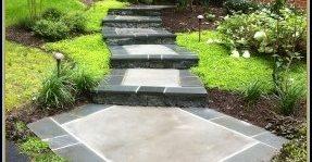 Stone Border, Concrete, Walkway, Garden Concrete Walkways Stone Images Masonry and Concrete Clifton, VA