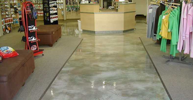 Polished Grey, Retail Floor Commercial Floors California Concrete Designs Anaheim, CA
