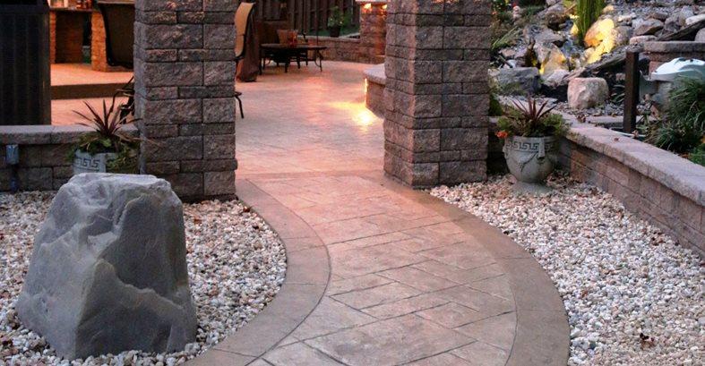 Concrete Walkway Site Greystone Masonry Inc Stafford, VA