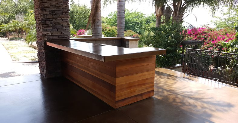 Outdoor Counter, Concrete Site Envision Concrete Escondido, CA