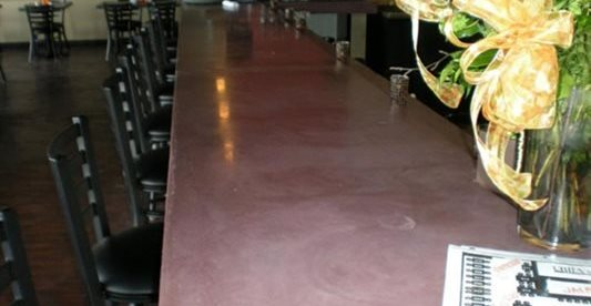 酒吧,混凝土柜台,混凝土台面Mudd工作室,阿纳海姆,CA