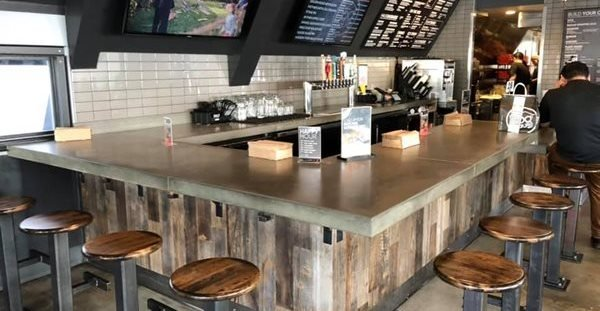 Restaurant, Bartop Concrete Countertops Colorwize Concrete Torrance, CA