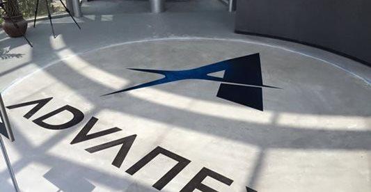 标志,自定义设计混凝土地板恒星表面公司亨廷顿海滩,CA
