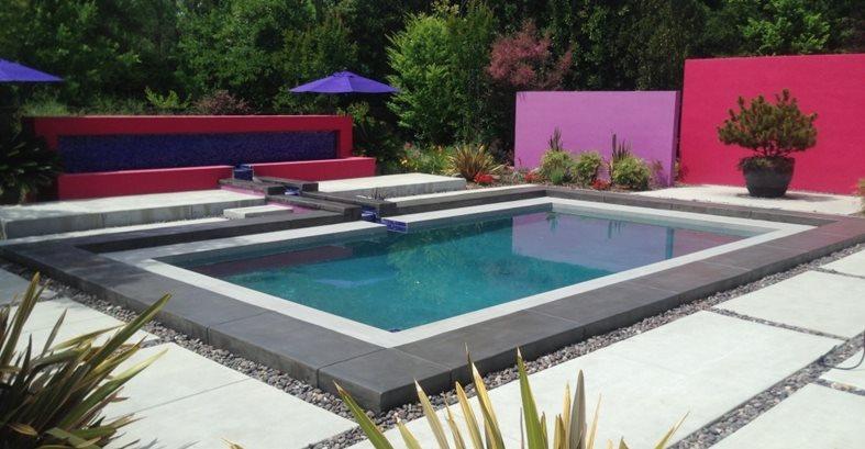 泳池甲板,充满活力的混凝土泳池甲板Concrete911 Oxnard,CA