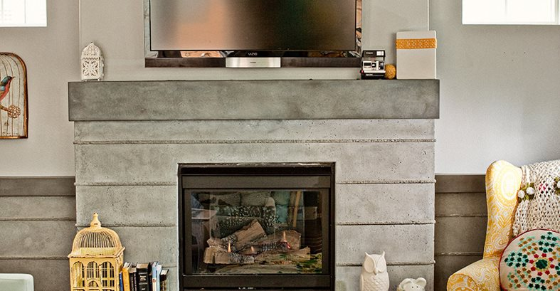 Fireplace, Custom Concrete Site Concrete Wave Design Anaheim, CA