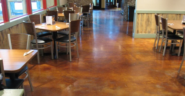 Restaurant Floors Enhancing Concrete In