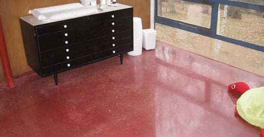 Colored, Red, Baby Changing Station Concrete Floors Facility Specialists, LLC Philadelphia, PA