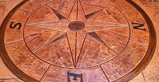 Compass, Design Concrete Floors Impressions Decorative Concrete, Inc Lutz, FL