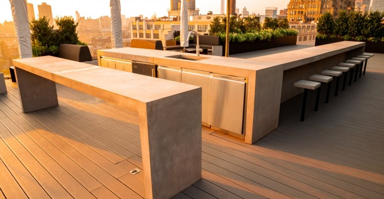 Rooftop, Concrete Furniture Site JM Lifestyles Randolph, NJ
