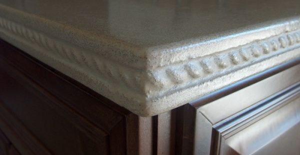 Speckled Grey, Detailed Edge, Countertop Architectural Details Lampe Concrete Studio San Marcos, CA