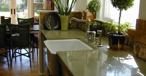 Concrete Countertop Commercial Floors Flying Turtle Cast Concrete Modesto, CA