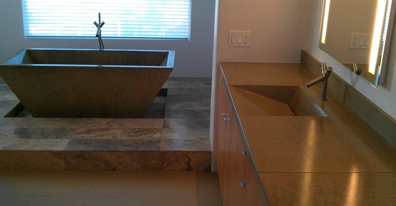 Concrete, Tub, Custom Commercial Floors DC Custom Concrete San Diego, CA
