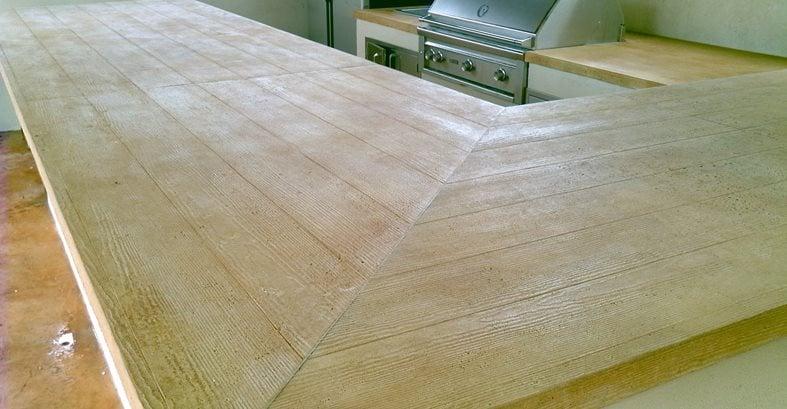 Faux Wood Stamped Concrete Floors : Faux wood countertops the concrete network