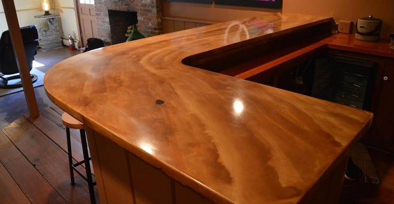 Bar Two Concrete Countertops Liquid Stone Concrete Designs LLC Warminster, PA