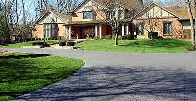 Dark Grey Pavers Concrete Driveways Artistic Hardscapes Mason TN & Concrete Designs- English Tudor Home Styles and Ideas Using Concrete ...