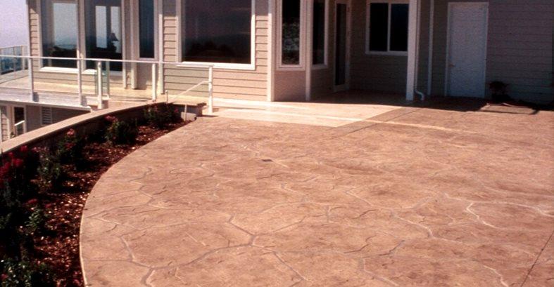 Flagstone, Tan Concrete Driveways Sullivan Concrete Textures Costa Mesa, CA