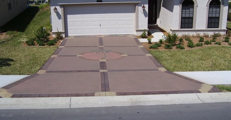 Palm Tree Graphic Concrete Driveways Deco Surf LLC Hernando, FL