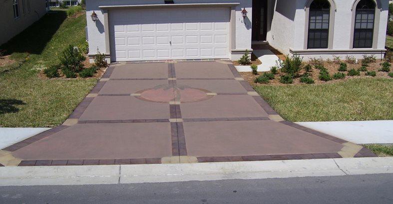 Palm Tree Graphic Concrete Driveways Deco Surf LLC Hernando, FL