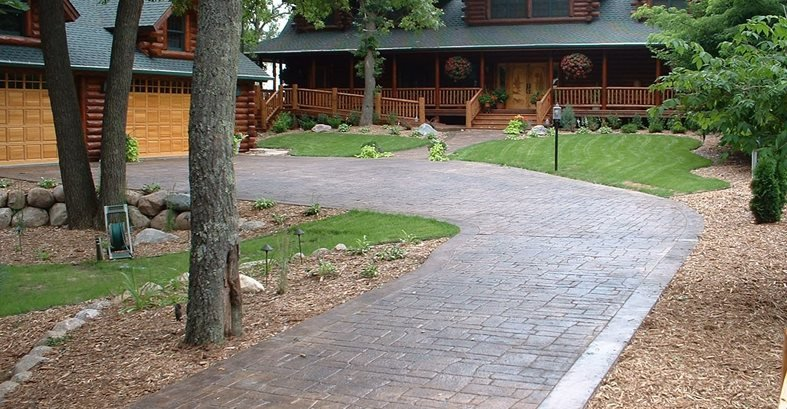 Random Stone Concrete Driveways Verlennich Masonry and Concrete Staples, MN