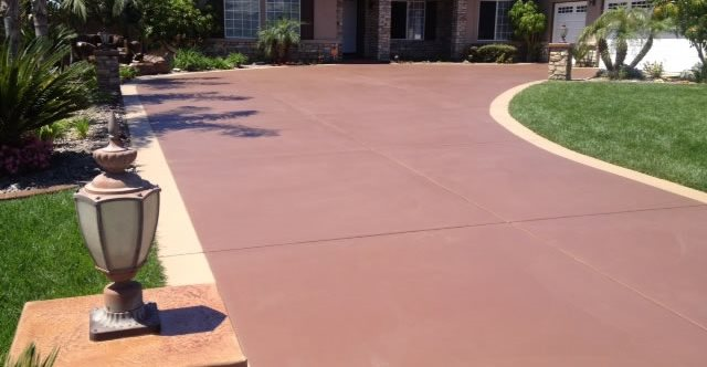 Stained Concrete Driveway Makeover Concrete Driveways KB Concrete Staining Norco, CA